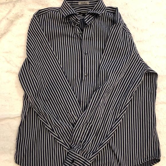 3e335e67d6 Express Shirts   Mens Modern Fit Striped Button Down Shirt   Poshmark